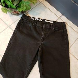 DKNY Soho Straight Black Jean's size 10